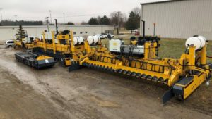 slip form paver and placer/spreader ready to ship